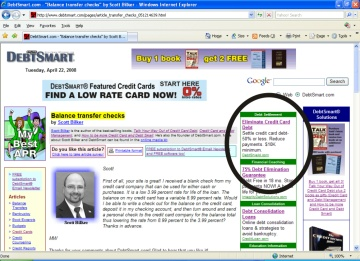 DebtSmart.com - Text Link Ad Placement